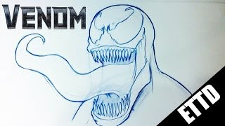 How to Draw Venom from Amazing Spiderman - Easy Things to Draw