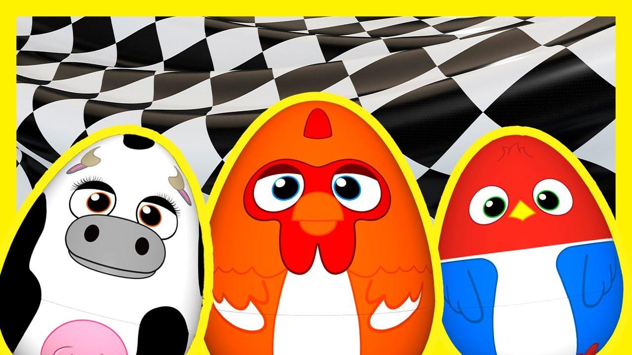 ¡Carrera de Huevos Sorpresa de La Granja de Zenón! - Lola, Pajarón y Bartolito   A Jugar
