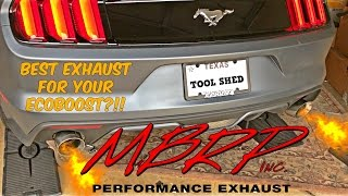 Mustang Ecoboost MBRP Catback Race Exhaust Install and Sound Clip