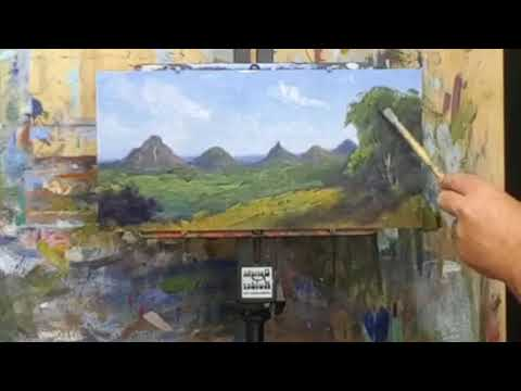 Oil Painting Correcting Plein Air Paintings In Studio   Live Stream 25th April 2018