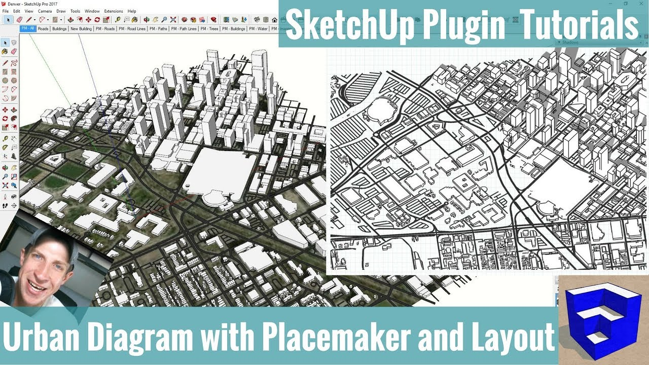 Creating an Axonometric Urban    Diagram    in SketchUp with Placemaker and Layout  YouTube
