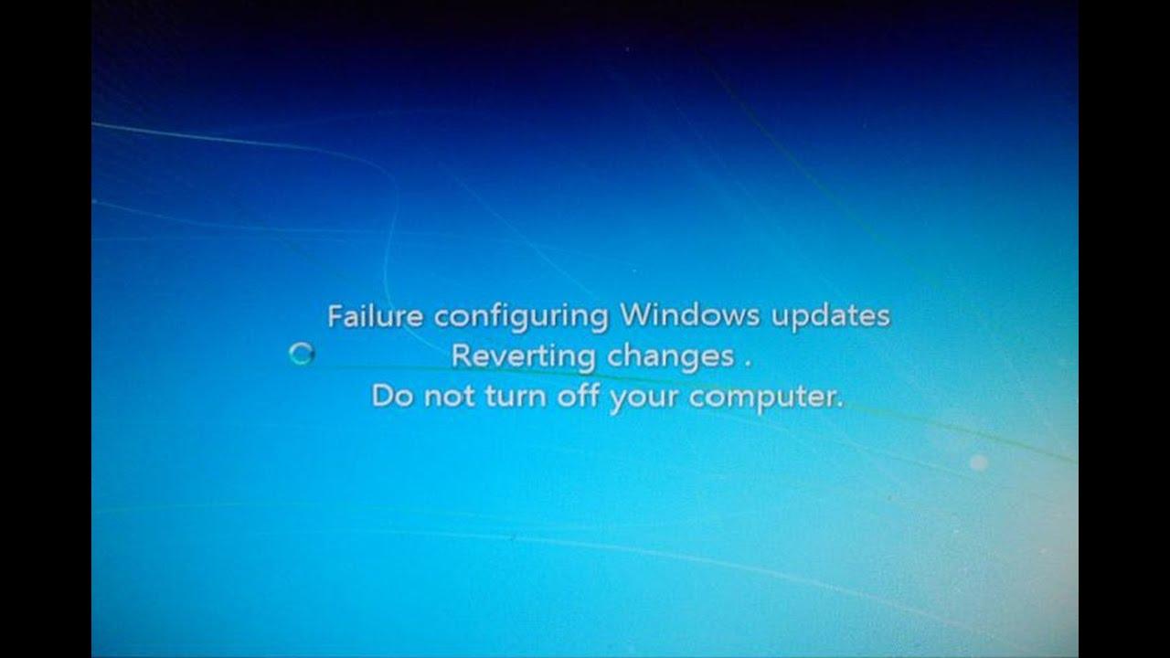 Cách khắc phục lỗi Failure configuring Windows updates