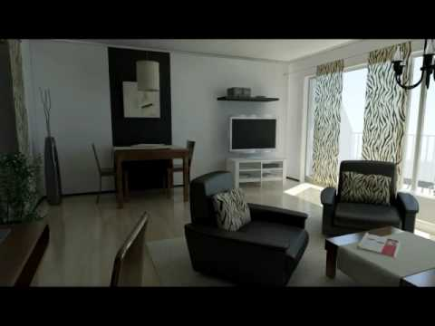 3d visualisierung animation wohnung beleuchtung 3ds max youtube. Black Bedroom Furniture Sets. Home Design Ideas
