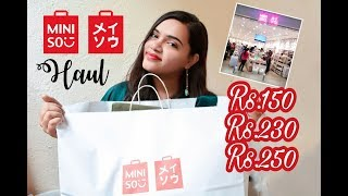 Miniso India Shopping Haul | Budget Affordable Shopping from Japanese Lifestyle Store!