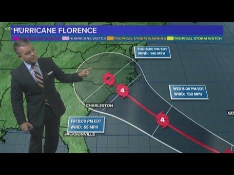 Hurricane Florence Forecast: Storm Tracking Toward Carolinas Coast
