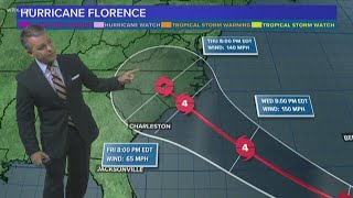 Hurricane Florence Forecast: Storm Tracking Toward Carolinas Coast