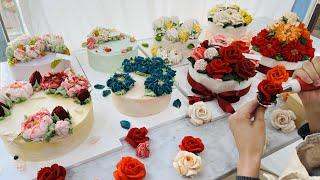 Это искусство Мастер тортов делает удивительный цветочный торт