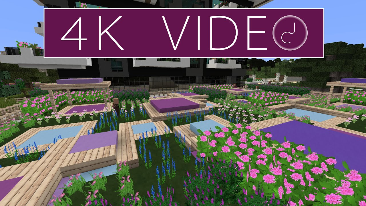 Garden Design Minecraft roof top garden design 8 - minecraft timelapse 4k - youtube