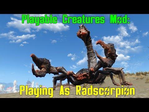 Fallout 4: Playable Radscorpion Mod