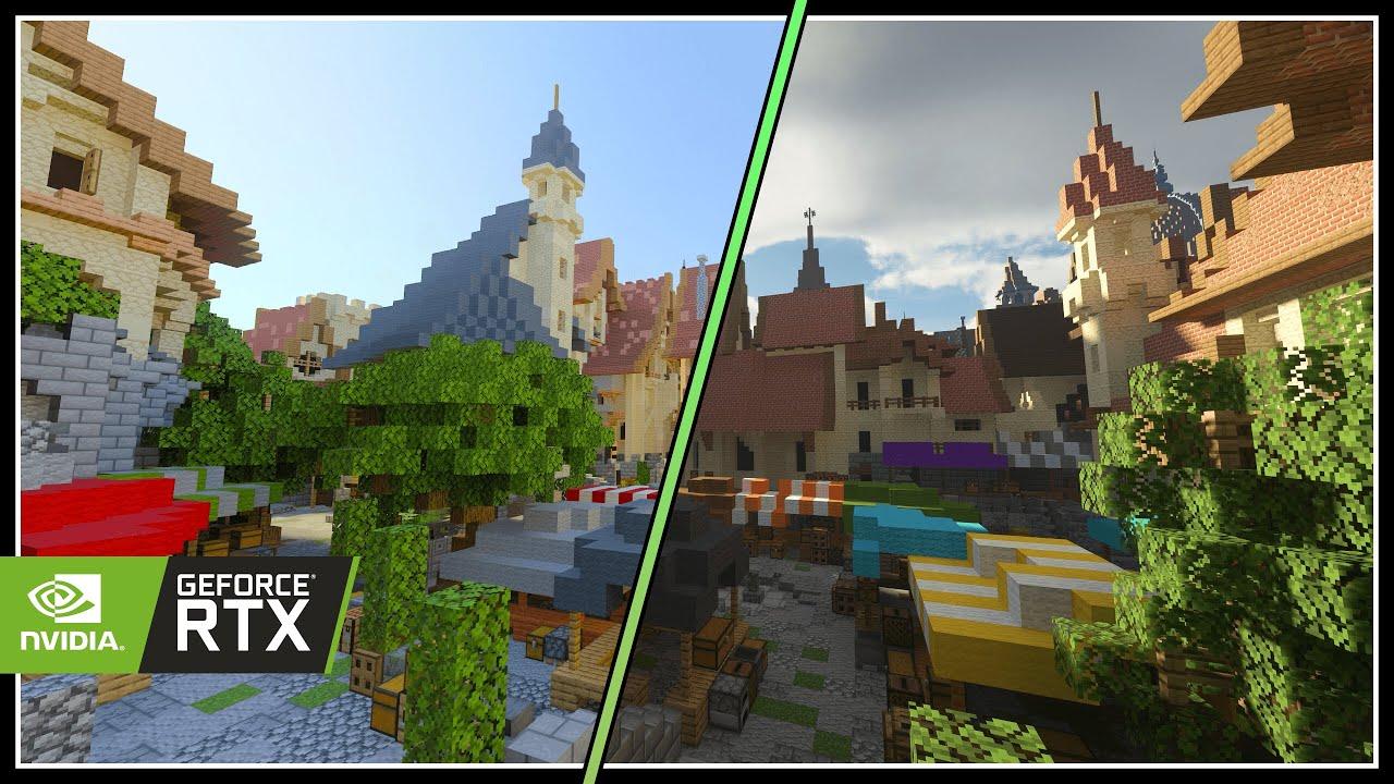 Minecraft RTX vs SEUS PTGI E12 | Ray Tracing Comparison | RTX 2080