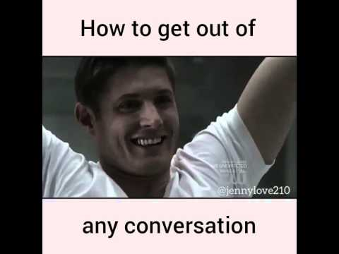 hqdefault supernatural dean pudding scene meme how to get out of any