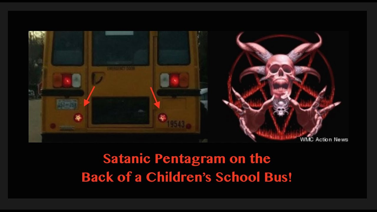 Childrens School Bus Has A Satanic Pentagram On The Back Youtube