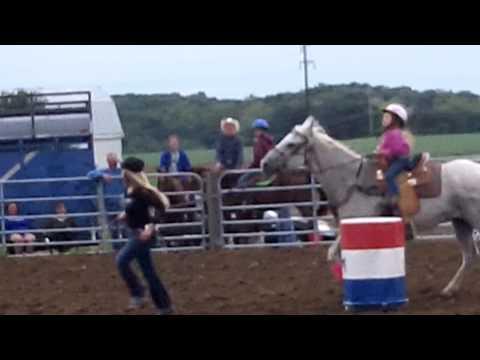 September 2012 - Monroe County Fairgrounds, Waterloo - Jocelyn & Doc on Barrels