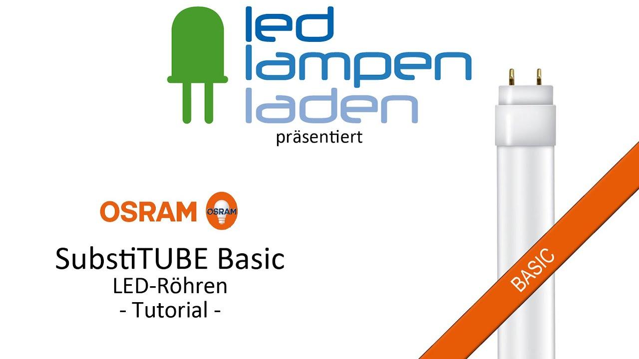 OSRAM LED Röhren | OSRAM SubstiTUBE Basic | Ihr LED-Lampenladen.de ...
