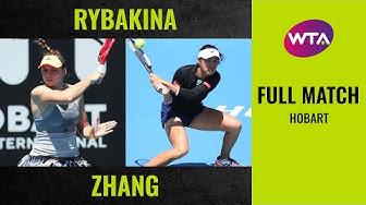Elena Rybakina vs. Zhang Shuai | Full Match | 2020 Hobart Final