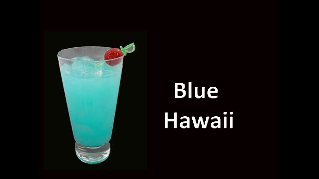 Blue hawaii cocktail drink recipe youtube for Good mixed drink ideas
