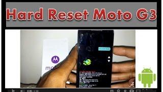 Tutorial, Hard Reset Motorola Moto G 3ª Geração.