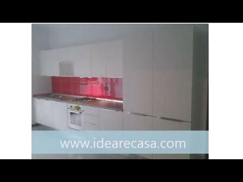Cucina bianca con piastrelle rosse a como youtube