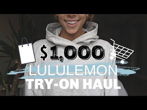 $1,000 LULULEMON TRY-ON HAUL | WOMEN + MEN'S CLOTHING, MY FAVORITES!