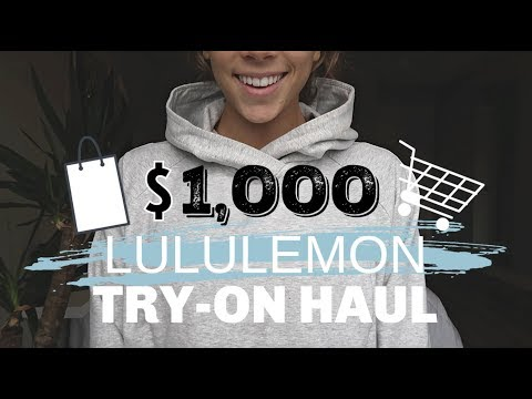 $1,000 LULULEMON TRY-ON HAUL | WOMEN + MENS CLOTHING, MY FAVORITES!