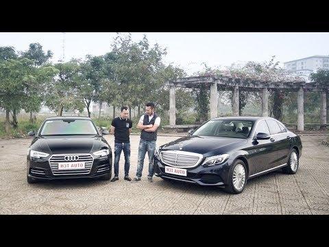 So sánh Mercedes-Benz C250 vs Audi A4 cũ giá 1,45 tỷ |XEHAY.VN|