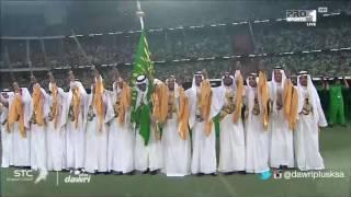 #دوري_بلس - اللوحة الفنية قبل مباراة نهائي #كأس_الملك بين #الاهلي و #النصر