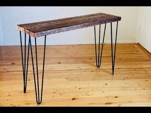 best service c8074 7c4ac Rustic Hall Table With Hair Pin Legs And Reclaimed Timber