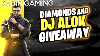 [LIVE]🇮🇳ALOK GIVEAWAY || 1000+ Diaṁond Giveaway || FREE fire LIVE || FULL CUSTOM ROOMS WITH KABIR