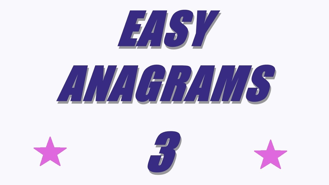 Easy anagrams 3 Quiz game