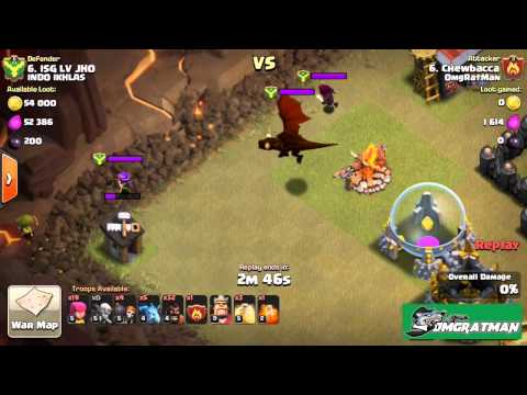 Clash Of Clans How To Kill A Clan Castle Dragon Easy Way and More