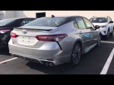 2018 Toyota Camry Xse 4 Cylinder Silver Black 2 Tone With