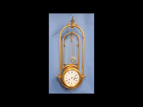 Exceptionally Rare Wall Mystery Clock by A. R.Guilmet.