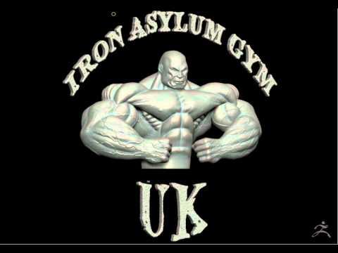 Iron Asylum UK Bodybuilder Logo Turntable Video