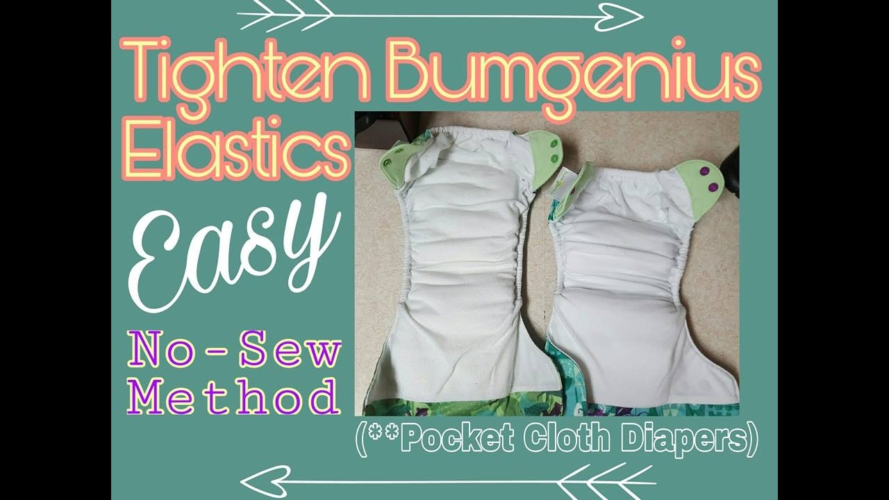 Easy No-Sew way to Tighten Bumgenius Elastics (Pocket Cloth Diapers ...