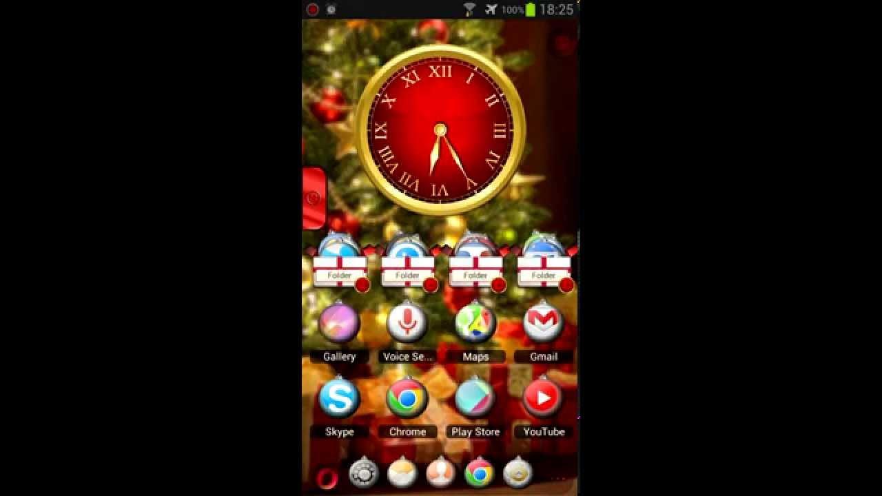 Gmail christmas theme - Christmas Tsf Shell Launcher Theme