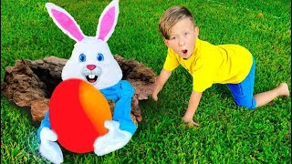 اشتعلت Senya بأرنب عيد الفصح. قصة للأطفال
