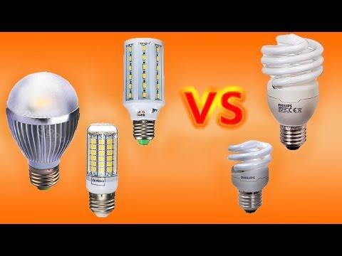 Сравнеие LED ламп с люминесцентными лампами