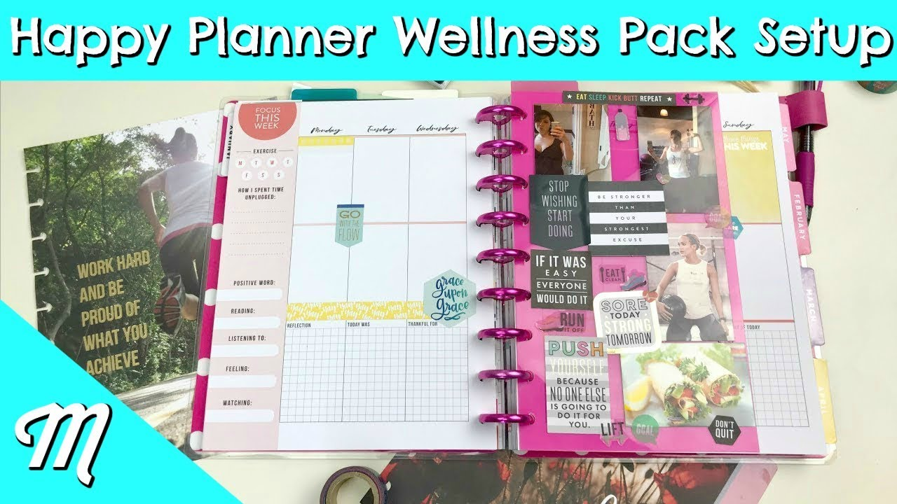 Happy planner setup wellness extension pack the best for For planner