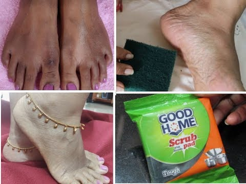 How To Do PEDICURE @ Home Using Dishwasher Scrub||Tan Removal&feet Whitening Methods