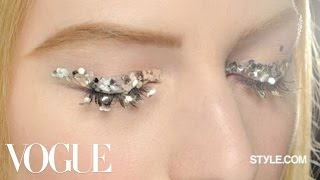 Backstage at Chanel Fall 2013 with Makeup Artist Peter Philips