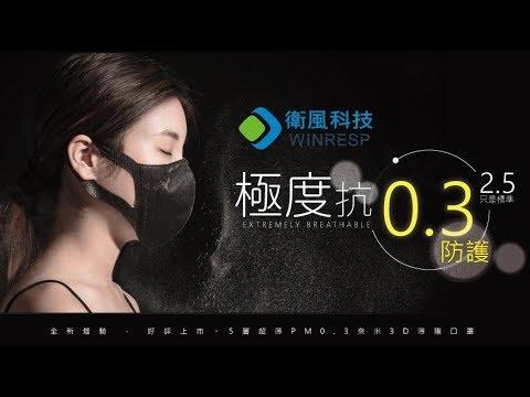 衛風PM0.3奈米3D薄膜口罩