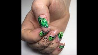 Видео урок рептилия. Дизайн ногтей рептилия