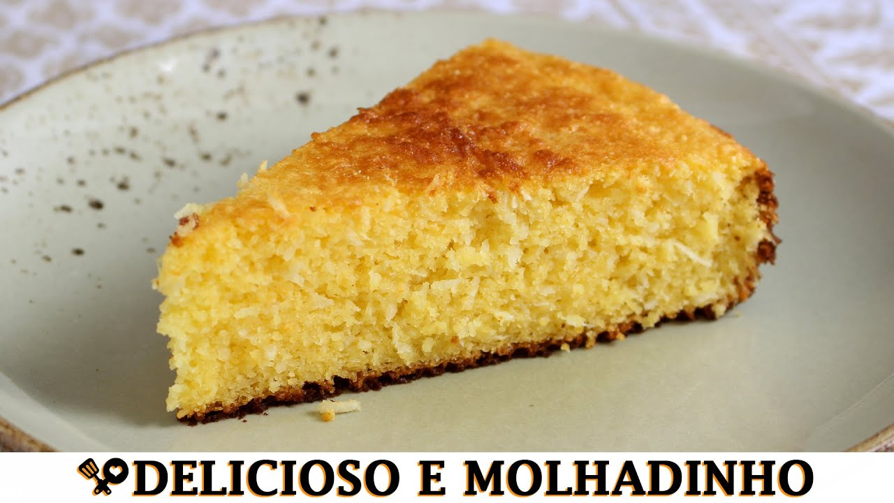 BOLO DE MILHO COM LEITE CONDENSADO NO LIQUIDIFICADOR - RECEITAS QUE AMO