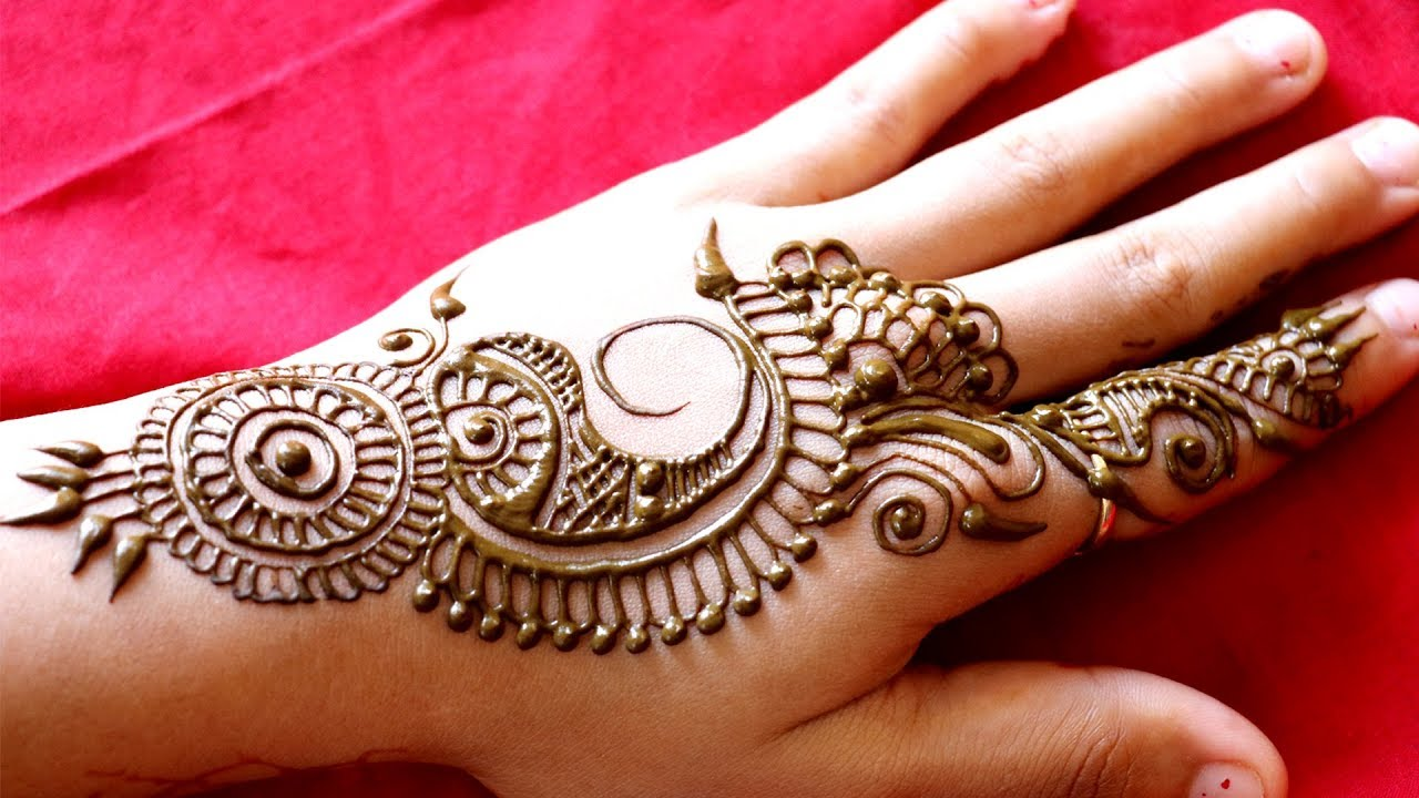 New Simple Indian Mehndi Designs For Hands Navratri Mehndi Durga
