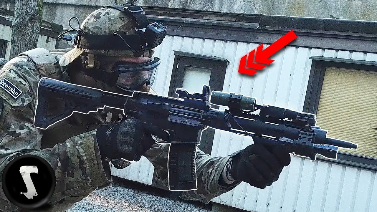 When an actual SWAT Officer Joins an Airsoft Game with 2000 RPM M4. (they were not happy)