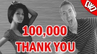 100k youtube subscribers thank you from chad wild clay vy