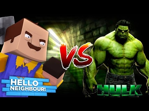 Minecraft HELLO NEIGHBOUR VS THE HULK - DONUT TURNS INTO THE HULK WHEN HE IS ANGRY!!!! thumbnail
