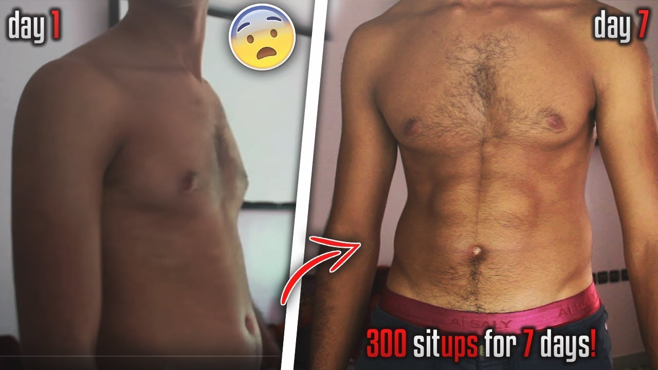 300 SIT UPS A DAY FOR A WEEK CHALLENGE - RESULTS