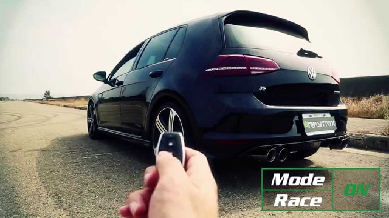 volkswagen vw golf mk7 r w armytrix exhaust mods launch control crazy sounds