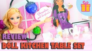 Doll Review:  Kitchen Table Set - Table, Chairs, Food, Pet, Doll, Etc